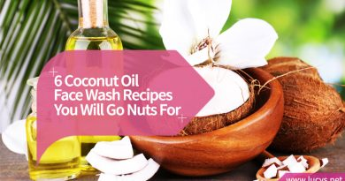 bottle of coconut oil for face wash