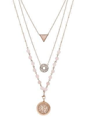 AromaLuxe London Multi-Layer Essential Oil Diffuser Necklace