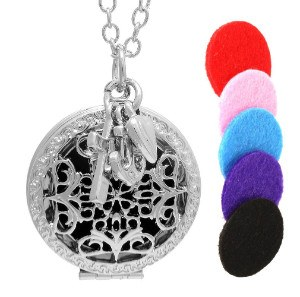 AromaRain Faith, Love & Hope Essential Oil Diffuser Necklace