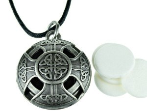 M Essentials Celtic Cross Aromatherapy Essential Oil Diffuser Necklace