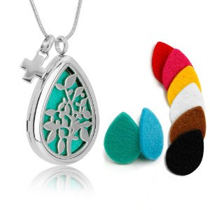 MUSTUS Teardrop Aromatherapy Essential Oil Diffuser Necklace