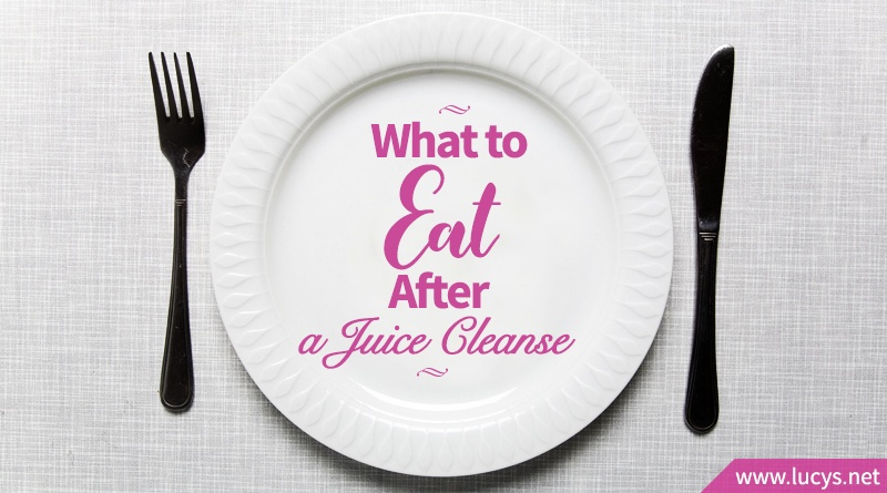 empty plate with words what to eat after a juice cleanse on it