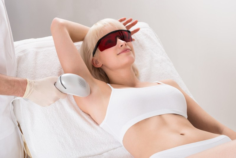 woman-having-underarm-laser-hair-removal-treatment