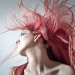 woman with red colored hair
